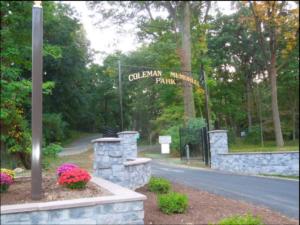 Coleman Park present entrance