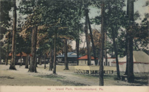 Island Park pavilions and tents