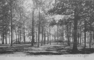 Kutztown Park pavilions circa 1907