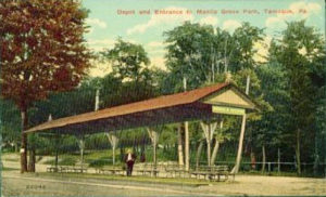 Depot and Entrance to Manila Grove Park