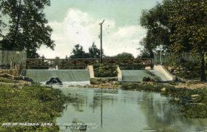 Dam of Paxtang Lake in Paxtang Park circa 1921