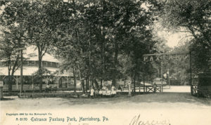 Entrance Paxtang Park circa 1905