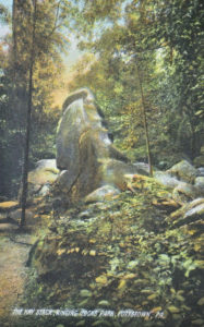 The Hay Stack in Ringing Rocks Park circa 1905