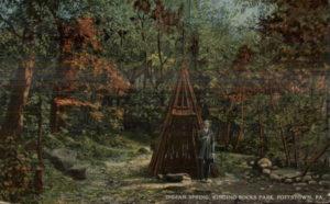 Indian Spring at Ringing Rocks Park circa 1910