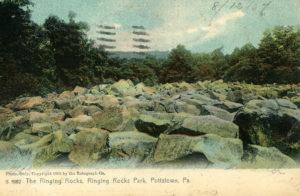 The Ringing Rocks at Ringing Rocks Park circa 1907