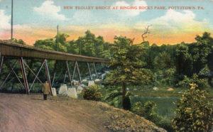New Trolley Bridge at Ringing Rocks Park