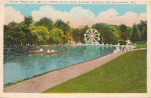 Ferris Wheel on Lake at Rolling Green Park