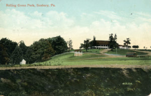Hillside view of Rolling Green Park circa 1910