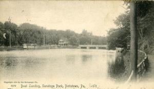 Boat Landing at Sanatoga Park circa 1905
