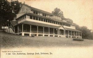 The Auditorium at Sanatoga Park circa 1908