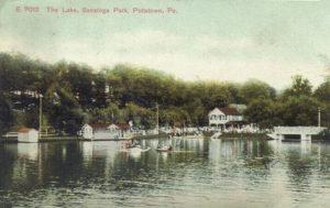 The Lake, Sanatoga Park circa 1908