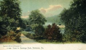 A scene at Sanatoga Park circa 1906