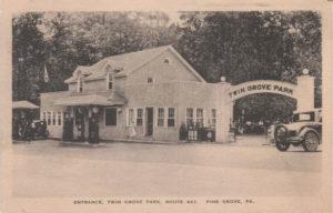 Entrance Twin Grove Park circa 1920s