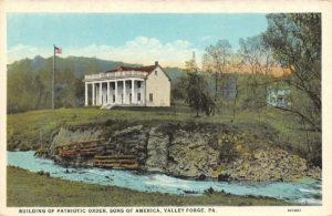 Valley Forge POSA Hall postcard